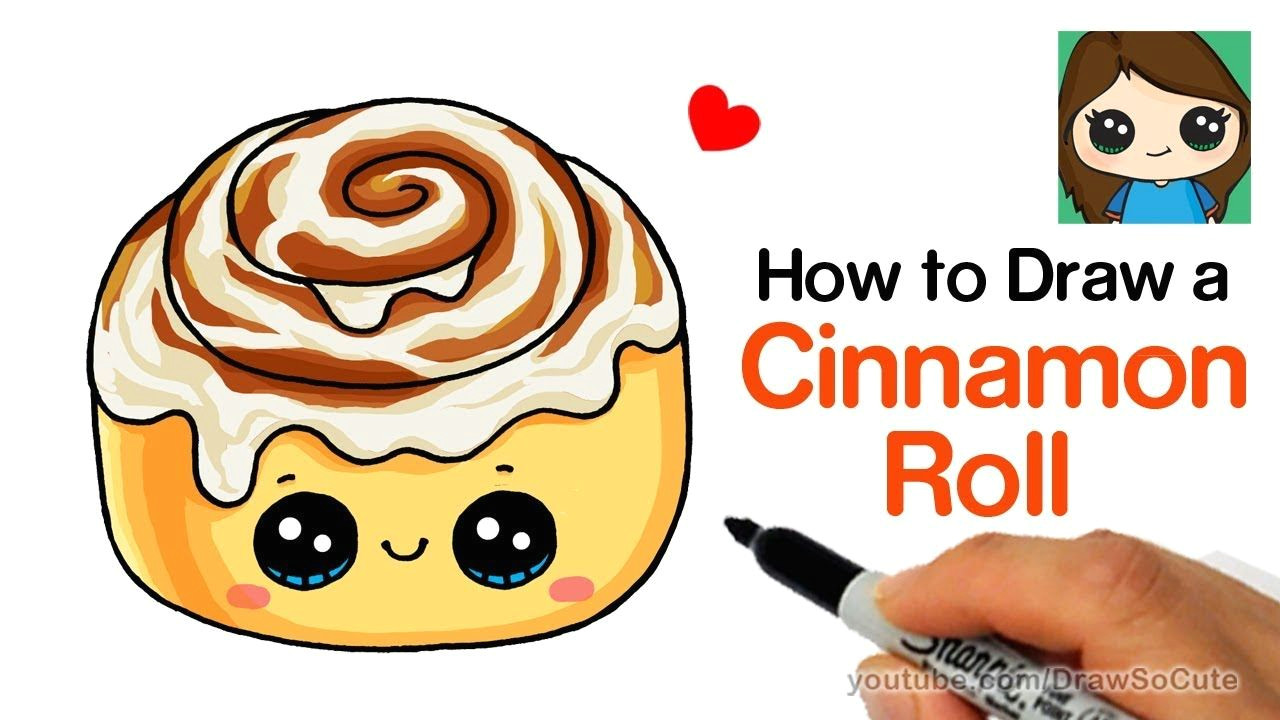 Draw so Cute New Drawing How to Draw A Cinnamon Roll Cute and Easy Kids Fun Stuff In 2019