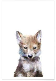 little wolf amy hamilton premium poster tierzeichnungen wolf aquarell aquarell kunst