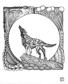 resultats de recherche d images pour a wolf mandala coloring pages