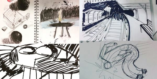 drawing classes for production designers third year ba and ma film practice london college of communication university of the arts london
