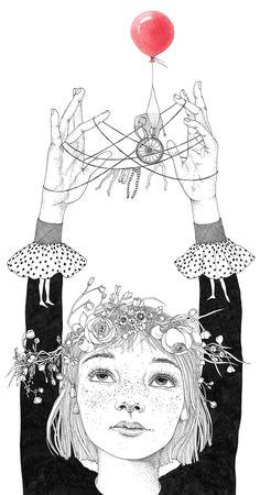 my childhood by sveta dorosheva croquis circus illustration crown illustration unicorn illustration