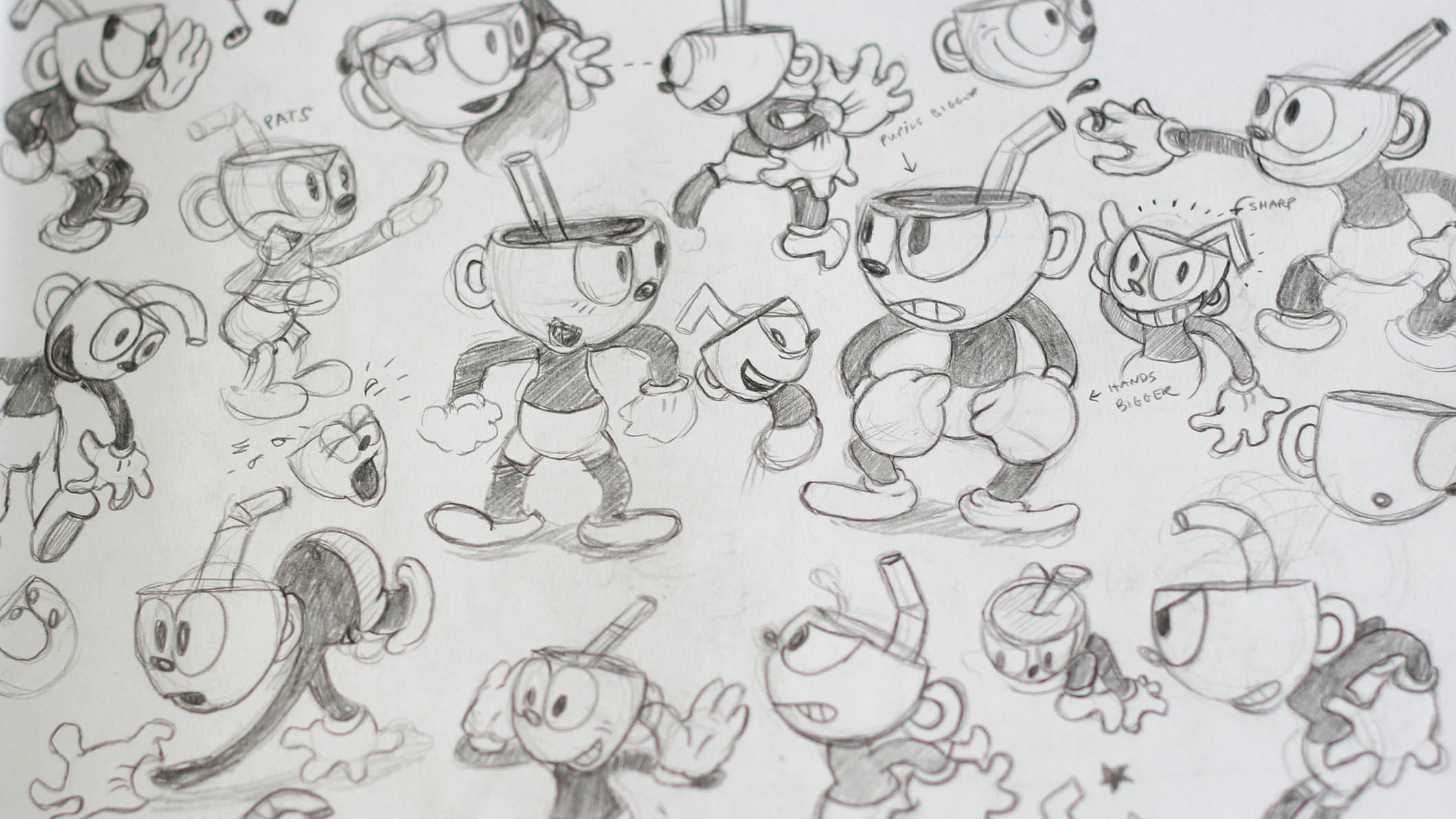 easy funny cartoon drawings cuphead creating a game that looks like a 1930s cartoon the verge