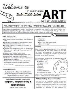 create a syllabus that your students will actually want to read the art of education