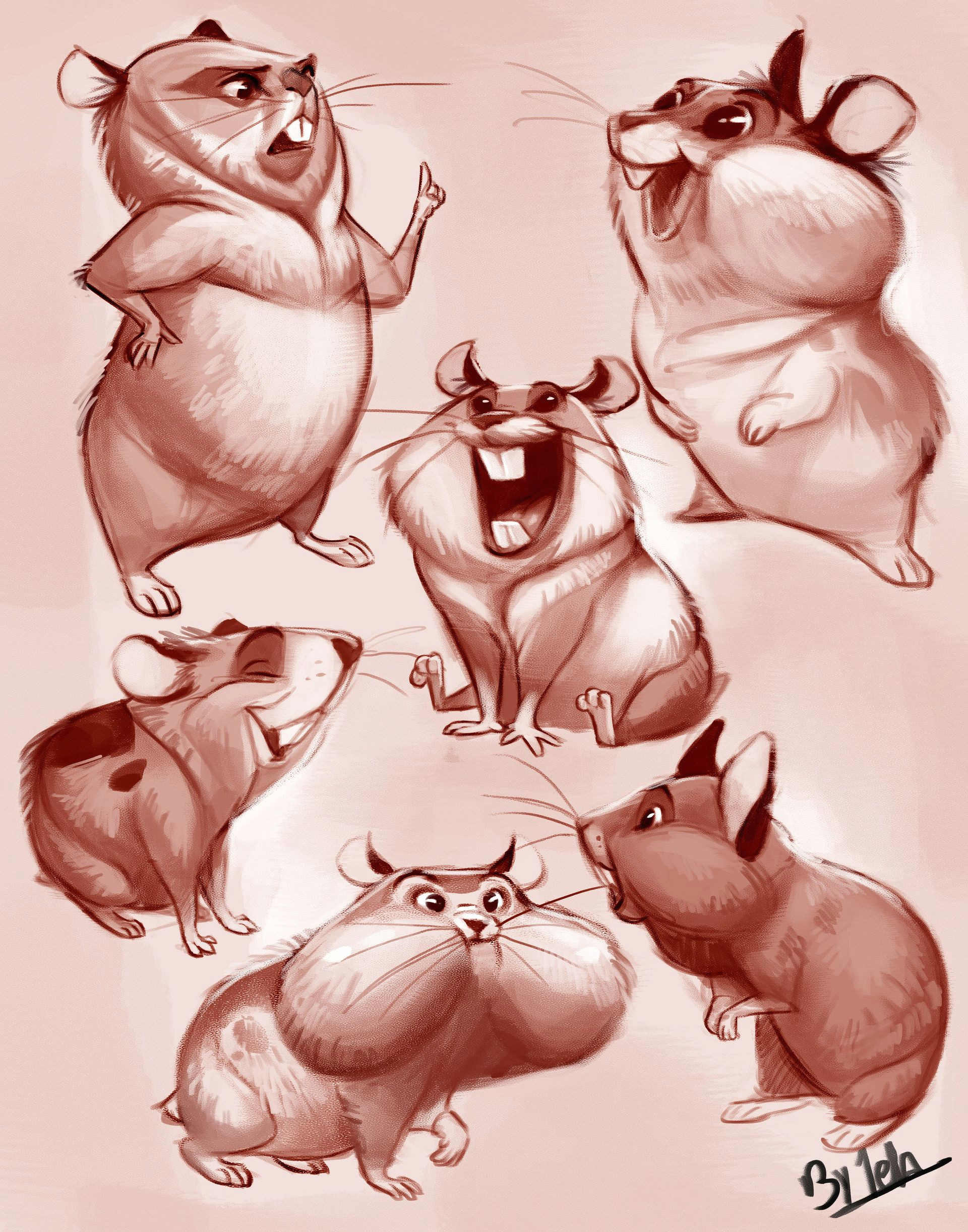 artstation hamsters ester conceia ao drawing cartoon characters drawing cartoons character reference