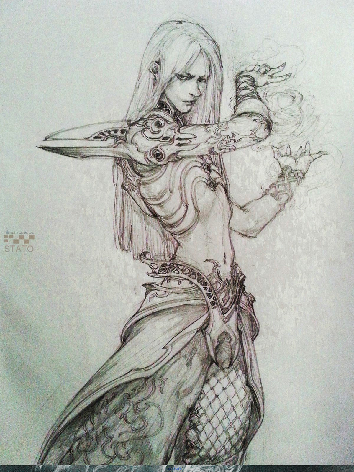artstation stato drawing fantasy characters stato ozo