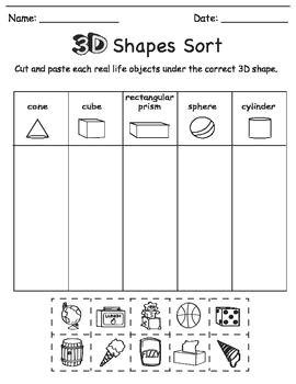 Drawing 3 D Shapes 3d Shape sort Color Draw Education Pinterest Geometra A