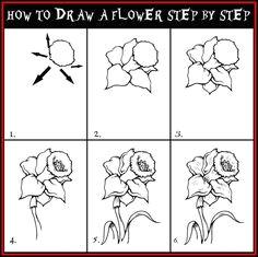 bildergebnis fur flower step by step drawing