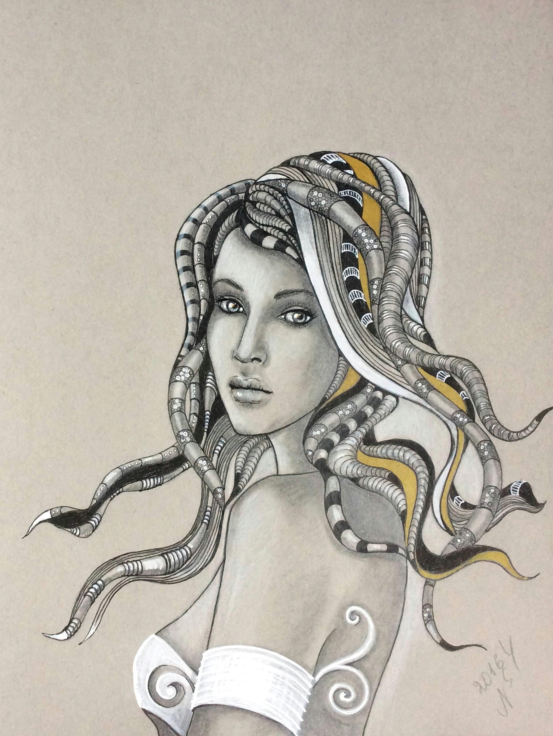 hairstyle drawing by natalya simonova
