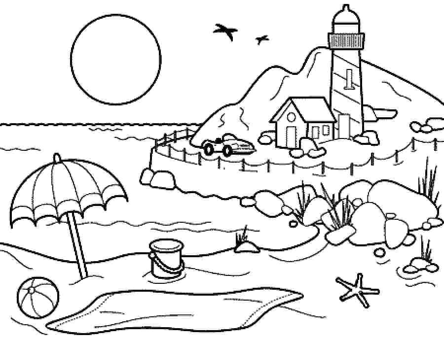 Drawing 4 Seasons Coloring Pages Summer Season Pictures for Kids Drawing Free