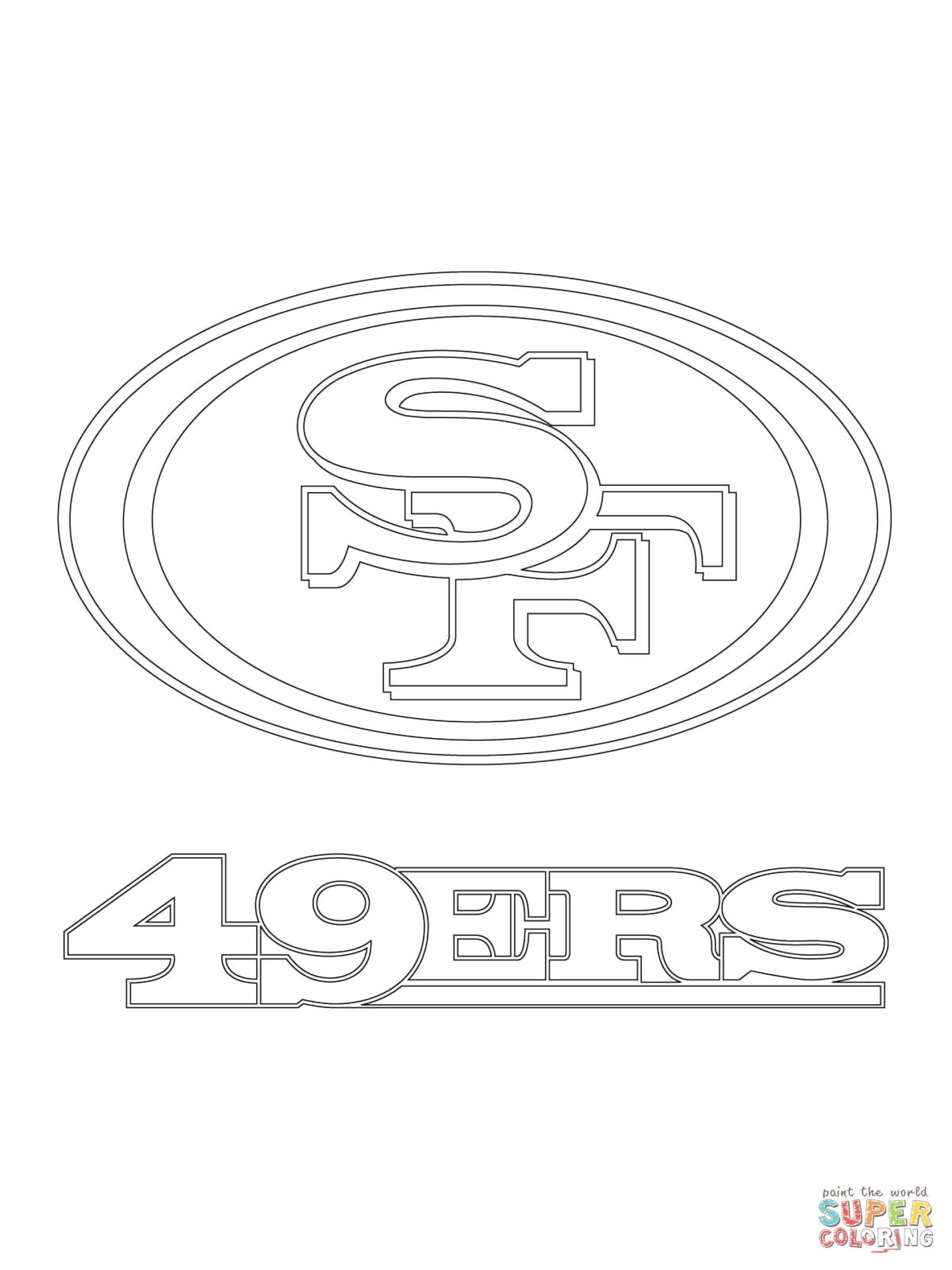 003 san francisco 49ers logo coloring page malvorlagen top 1920