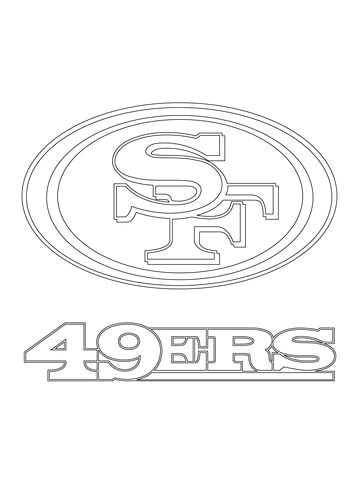 san francisco 49ers logo coloring page from nfl category select from 20946 printable crafts of cartoons nature animals bible and many more