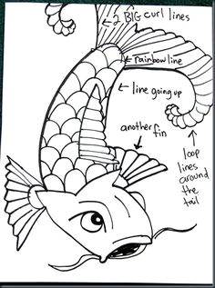 5th and 6th grade how to draw a koi smart class blog koi fish drawing