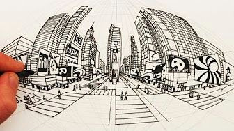 perspective drawing 5 point youtube