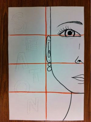 mrs kearly s class mrs mrs savoie s 5th grade class how to begin divide paper into 6 by folding draw face lightly to below p