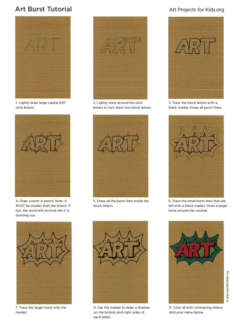 how to draw cartoon letters a art projects for kids