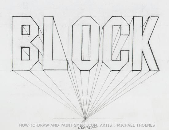 Drawing 6 Letters One Point Perspective Block Letter How to Lettering Drawings