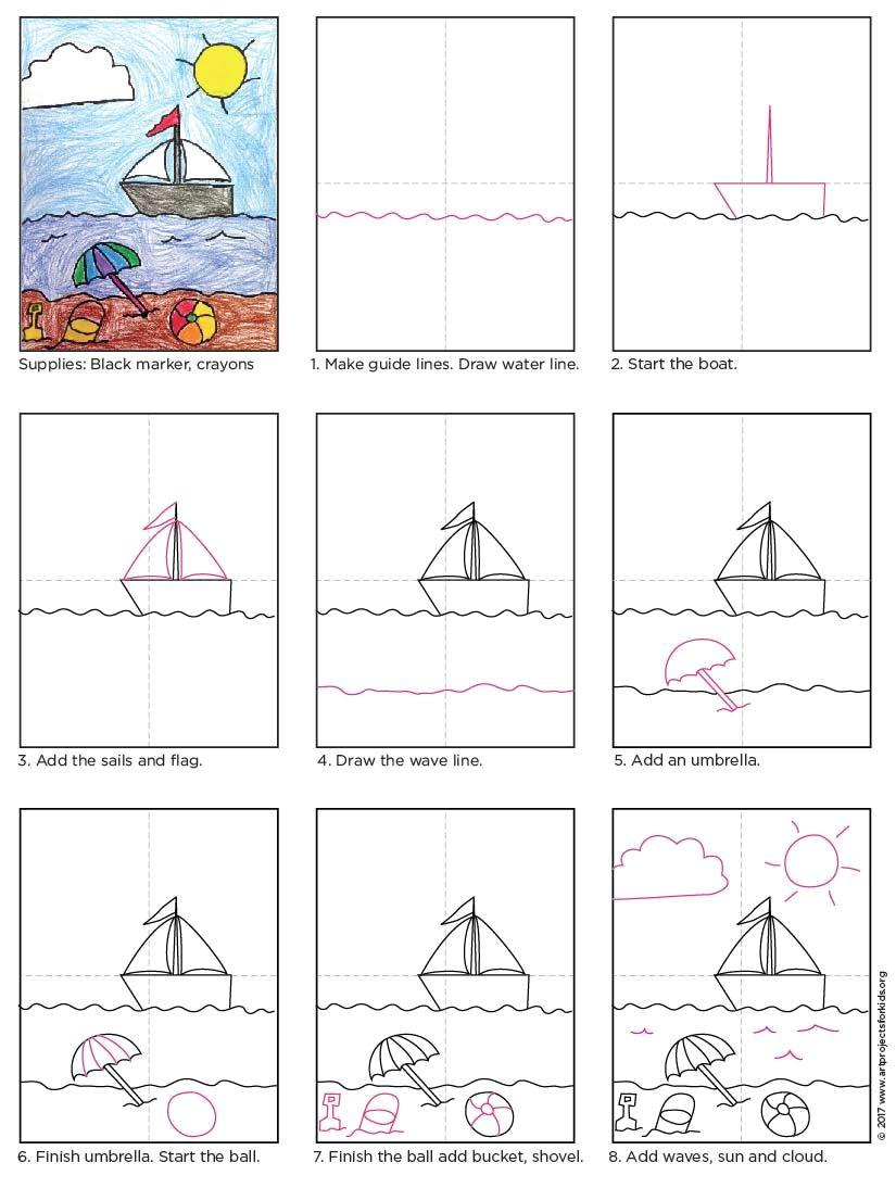 Drawing 6 Lines Beach Drawing Arts Crafts Drawings Art Drawings Art