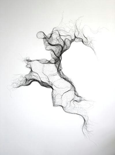 susie macmurray gauze bandage no 5 2011 pen drawing