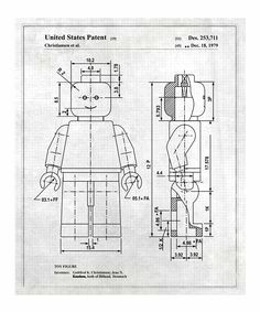 oliver gal gray lego toy figure 1979 print