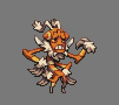 fantasy satyr faun character design animation 8 bit gifs 8