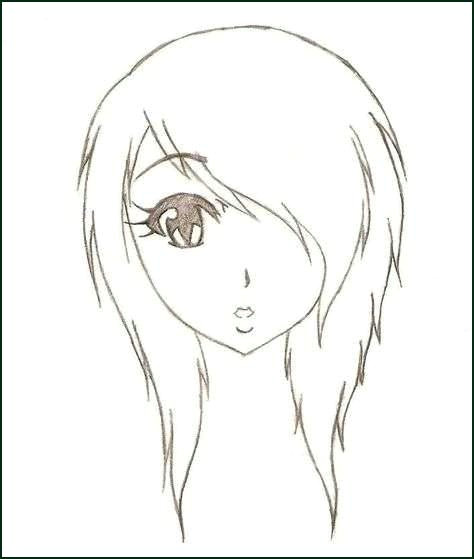 how to draw a cute anime girl step by step elegant anime emo girl designs of
