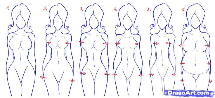 how to draw bodies step by step google search