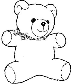 coloring teddy bear coloring pages 4 coloring coloringbook teddy bear outline teddy