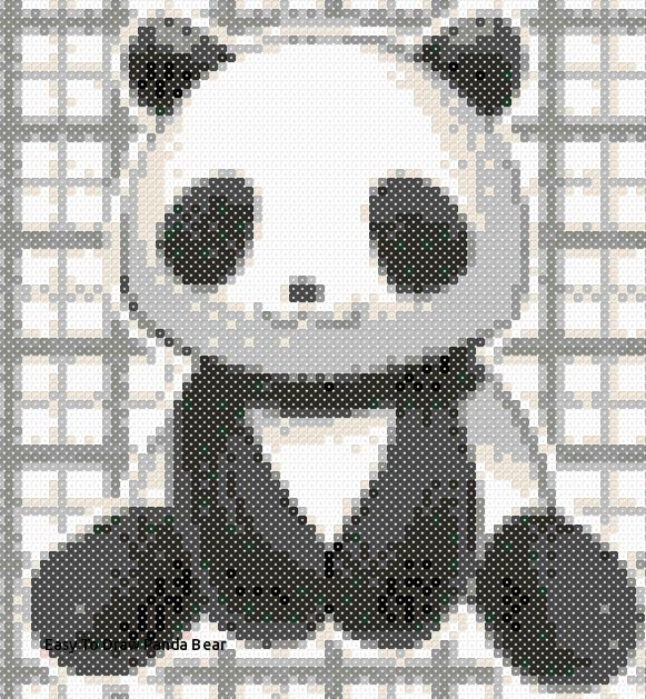 easy to draw panda bear perler bead panda bear panda perlers pinterest of easy to draw