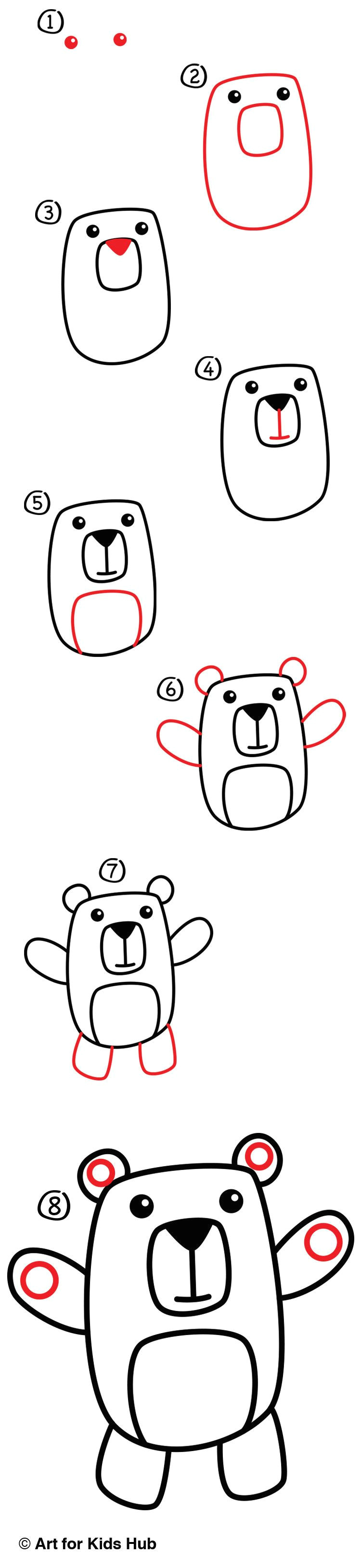 learn how to draw a cartoon bear with us we keep this art project short