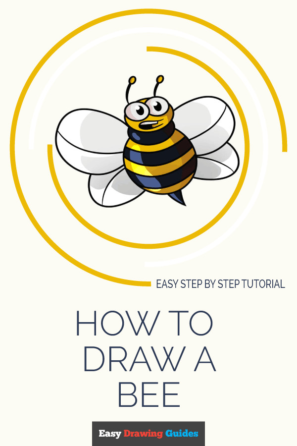 learn how to draw cartoon bee easy step by step drawing tutorial for