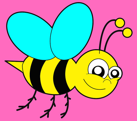 how to draw cartoon bumblebees or bees with easy step by step drawing tutorial