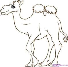 how to draw a cartoon camel step by step cartoon animals