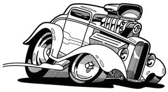 old muscle car cartoon drawings the line art drawing above was done for outback automotive