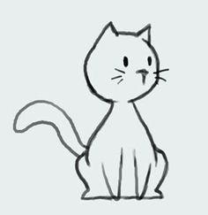 how to draw cute cartoon cat drawings