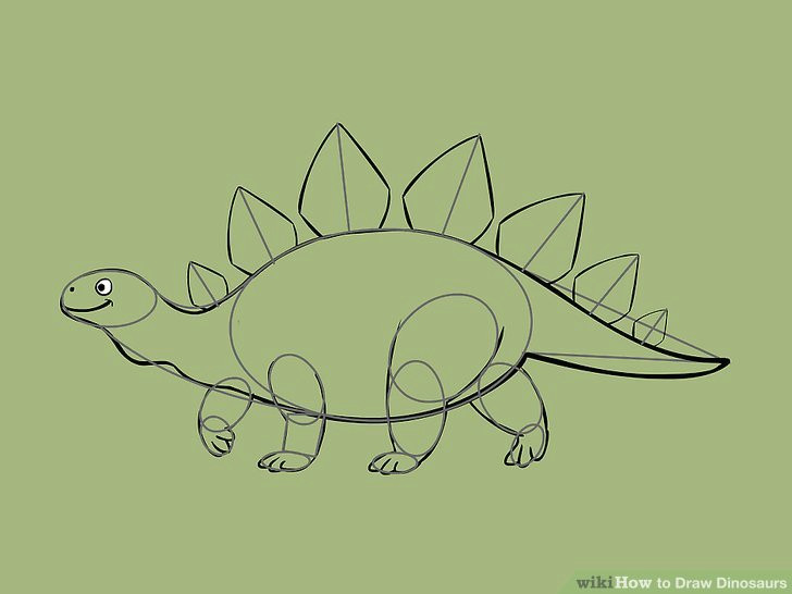 image titled draw dinosaurs step 7