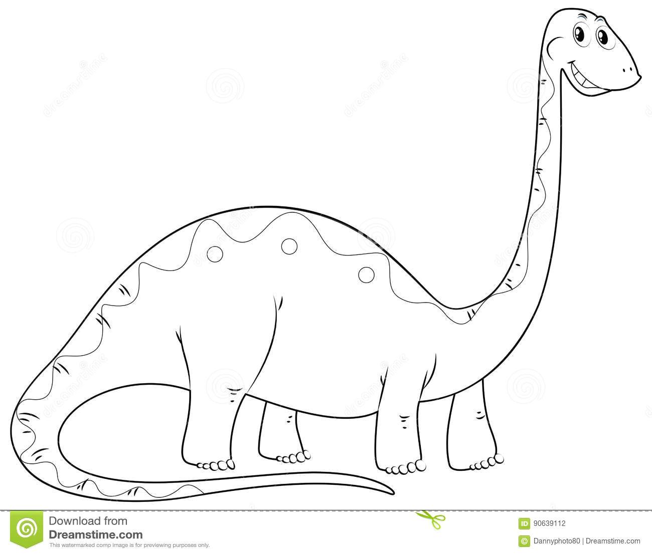 animal outline for dinosaur long neck