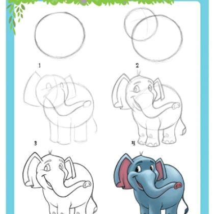 apprendre a dessiner un elephant 4411