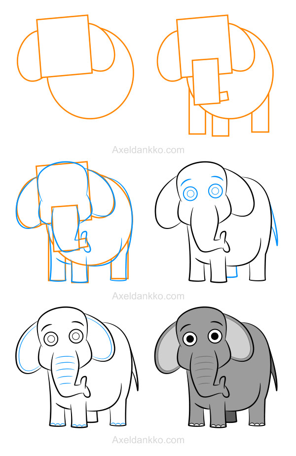 how to draw an elephant comment dessiner un elephant