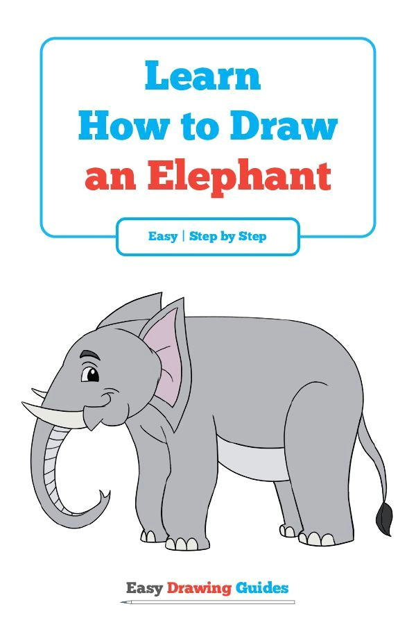 learn how to draw a elephant easy step by step drawing tutorial for