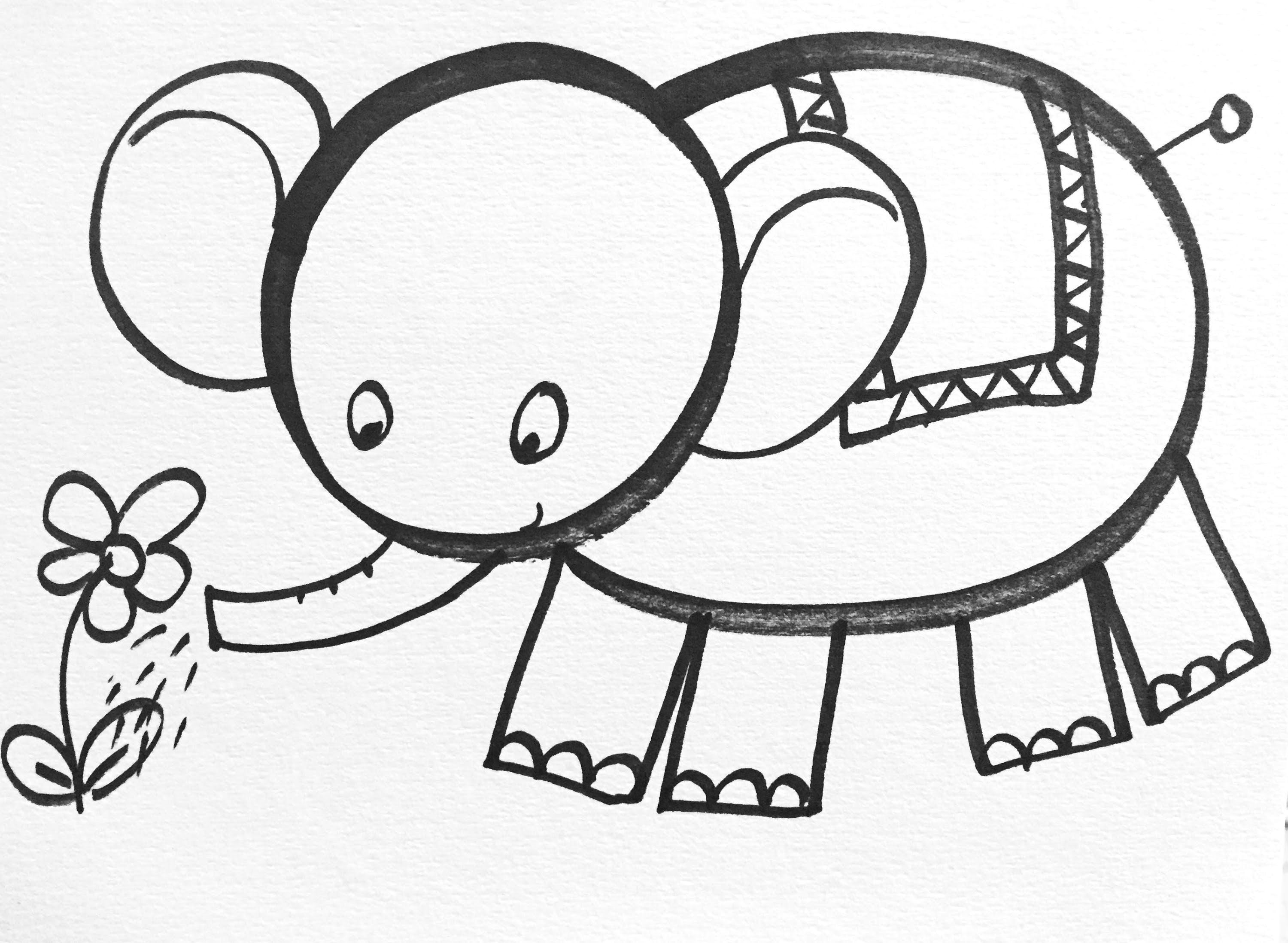 learn how to draw easy in this drawing you can learn to draw the adorable elephant as a cute cartoon character step by step from the popular youtube art
