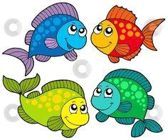 free cute clip art cute cartoon fishes collection stock vector clipart cute cartoon
