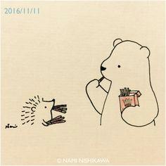 ila lustracions de nami nishikawa oda a l amistat rosalynn komonhirun a hedgehog drawing