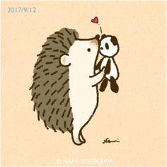 happy hedgehog cute hedgehog hedgehog illustration