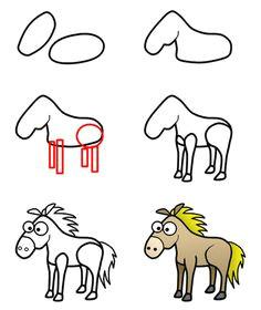 drawing a cartoon horse cartoon drawing tutorialcartoon