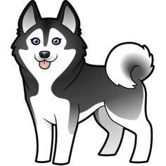 husky cartoon images cartoon siberian husky alaskan malamute photo cut outs husky drawing