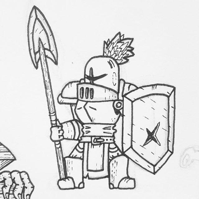 knight art sketch fantasy fantasyart ink crusader knight