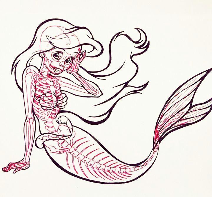 mermaid skeleton pictures google search