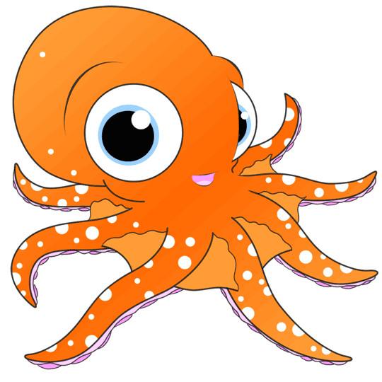 drawing of a cartoon octopus