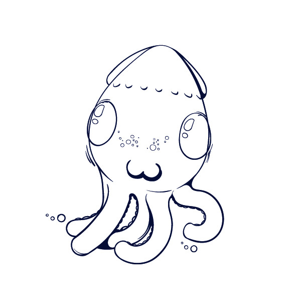 09 learn how to draw an octopus cartoon step by step tutorial