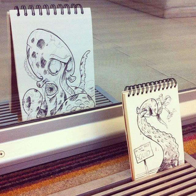 the octopus attack 18 creative arty cartoon bomb drawings that will leave you amazed boredbug